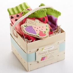 Baby's Fruity Booties Socks