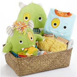 My Little Monster Baby Boy Gift Basket