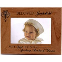 Beloved Godchild Personalized Wooden Frame