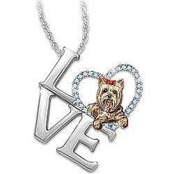 Loving Companion Dog Breed Pendant Necklace