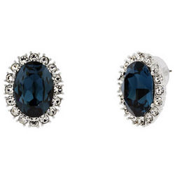 Royalty Inspired Sapphire Swarovski Crystal Earrings
