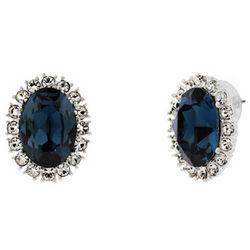 Royalty Inspired Sapphire Swarovski Crystal Earrings