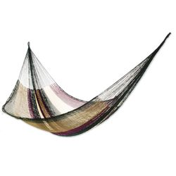 Mother Earth Striped Rope Double Hammock