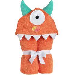 Orange Monster Hooded Towel