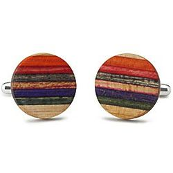 Recycled Extreme Skateboard Cufflinks