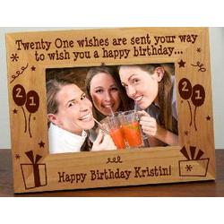 21st Birthday Personalized Frame