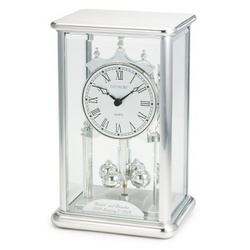 Silver Bevel Anniversary Clock Findgift Com
