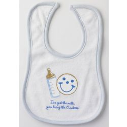Milk and Cookies Baby Boy Bib