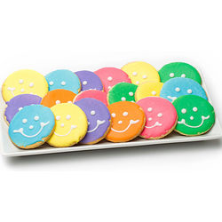 Easter Mini Pastel Smiley Cookies