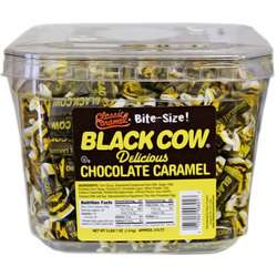 Black Cow Chocolate Caramel Candy Tub