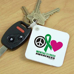 Peace Hope Love Mental Illness Awareness Keychain