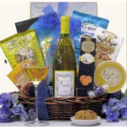 Cupcake Chardonnay Gourmet Wine Gift Basket