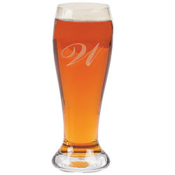Personalized Initial Pilsner Glass
