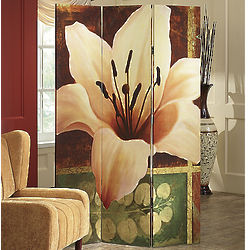 Magnolia and Lily Room Divider Screen