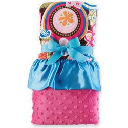 Paisley Minky Baby Girl Blanket
