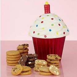 Birthday Cupcake Cookie Jar with Nibblers