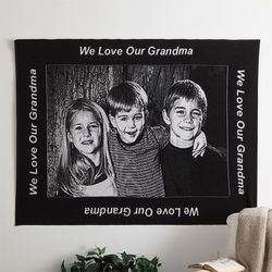 Personalized 40x60 Photo Blanket with Custom Border
