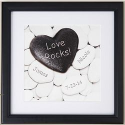 Personalized Love Rocks Heart Print