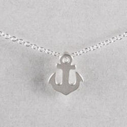 Friendship Sterling Silver Anchor Necklace