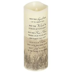 May The Road Rise Up to Meet You Irish Prayer LED Candle