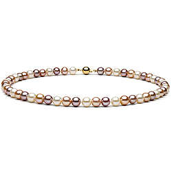 17.5-inch 9-10mm AA Multicolor Freshwater Pearl Necklace