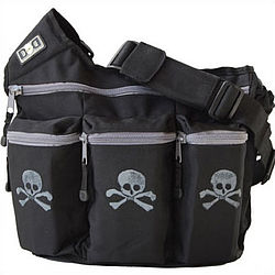 Black Skull and Cross Bones Diaper Bag