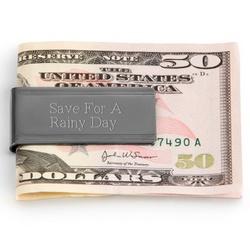 Polished Gunmetal Money Clip