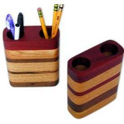 Layered Wood Pen and Pencil Holder