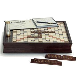 Wood Scrabble Deluxe Classic Edition