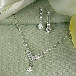 Chevron Rhinestone Jewelry Set