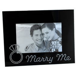Marry Me Glass Picture Frame