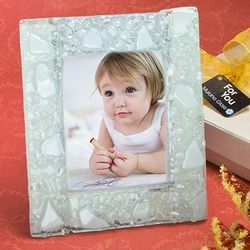 Murano Glass White Picture Frame