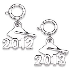 Sterling Silver Graduation Dangle Charm