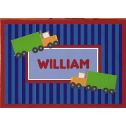 Personalized Truck Driver Fan Placemat
