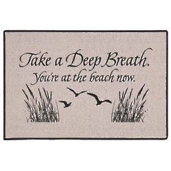 Take A Deep Breath You're at the Beach Doormat