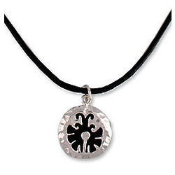 Maya Butterfly Leather Necklace