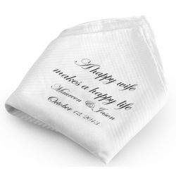 Happy Wife Happy Life Handkerchief