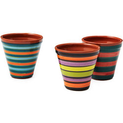 Mini Striped Flower Pots