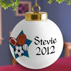 Personalized All Star Sports Christmas Ornament