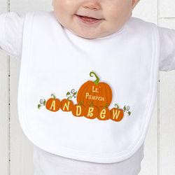 My First Halloween Personalized Pumpkin Baby Bib