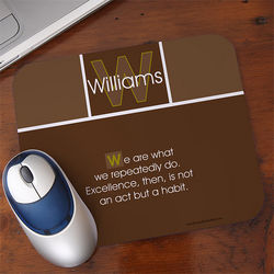 Inspirational Quote Personalized Mouse Pad