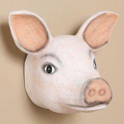 Paper Mache Pig Head Trophy