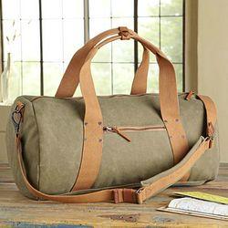 Waxed Canvas Travel Bag