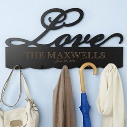 Personalized Love Coat Rack