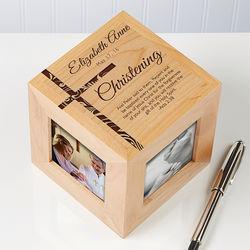 Baptism Personalized Photo Cube