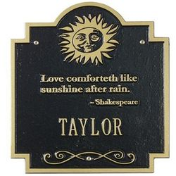 Sun Poem Family Name Plaque