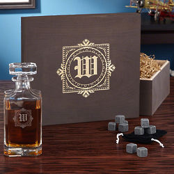 Personalized Winchester Decanter with Whiskey Stones