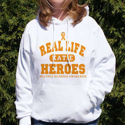 Real Life Hero MS Awareness Hooded Sweatshirt