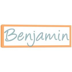 Boy's Name Canvas Wall Art with Personalized Colors