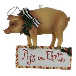 Pig Personalized Christmas Ornament
